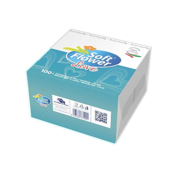 ultimo comprare bene ufficiale Soft Flower Tovaglioli usa e getta a doppio velo 100pz | Tigotà