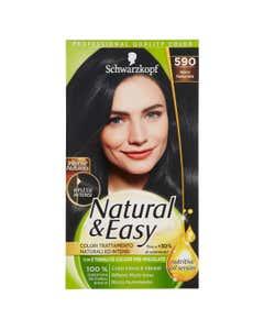 Colorazione Capelli Natural&Easy Intense Naturals 590 Nero Naturale