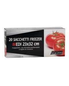 aquam 20 sacchetti freezer 23x32 cm
