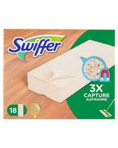 Panni Catturapolvere per Scopa Swiffer - Ricarica 18 Panni Legno & Parquet