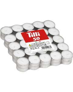 Set tealights bianchi 50pz