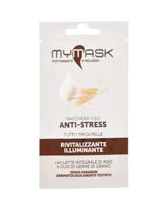 Eco Bio Maschera Viso Anti-Stress Rivitalizzante Illuminante 10 ml