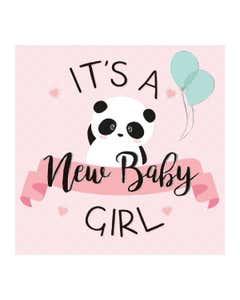 Biglietto 7X7 Baby Panda Girl
