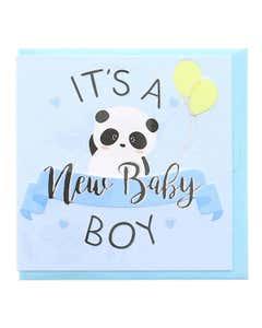 Biglietto 7X7 Baby Panda Boy