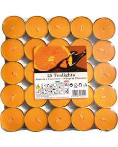 Set tealights profumati Arancia e Cioccolato 25pz