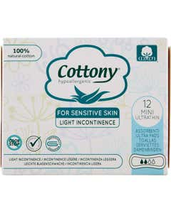 Cottony Incontinenza Leggera Assorbenti Mini Ultrathin 12 pz