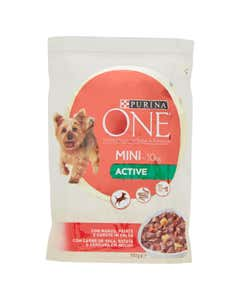 one My Dog Is… Cane Bocconi in Salsa Active con Manzo, Patate e Carote Busta 100 g