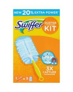 Swiffer Duster Starter Kit Catturapolvere (1 Manico + 5 Piumini per spolverare)