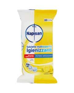 Salviette multisuperfici Igienizzanti Limone e Menta 60 pezzi