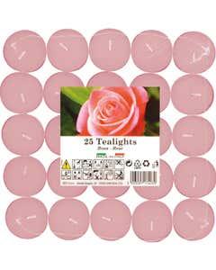 Set tealights profumati Rosa 25pz