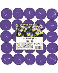 Set tealights profumati Viola 25pz