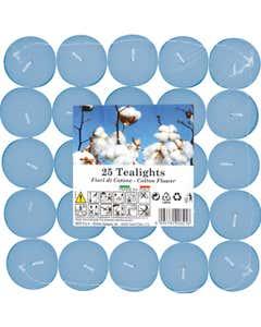 Set tealights profumati Fiori di Cotone 25pz