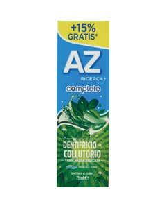 AZ Ricerca Dentifricio Complete+Collutorio Freschezza Delicata 65 ml + 10ml