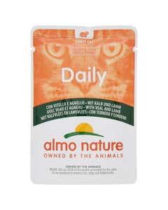 almo nature Daily Adult Cat Bocconcini con Vitello e Agnello 70 g