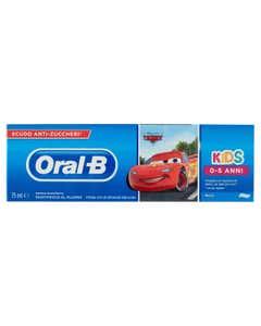Oral B Dentifricio Kids Cars/Frozen 75 ml - Dentifricio per Bambini 0-5 anni