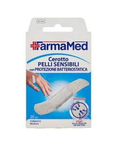 Cerotto Pelli Sensibili con Protezione Batteriostatica Formato Medium 20 pz