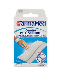Cerotto Pelli Sensibili con Protezione Batteriostatica Formato 10x6 cm 5 pz