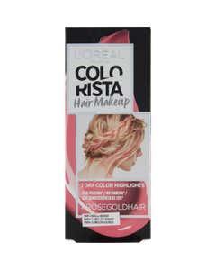 L'Oréal Paris Colorista Hair Makeup Colorazione Capelli Temporanea 1 Giorno, Rosa Oro (Rose Gold)