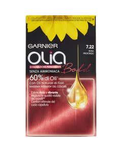 Garnier Olia Bold - Colorazione permanente senza ammoniaca attivatà dall'olio - 7.22 Rosa Intenso