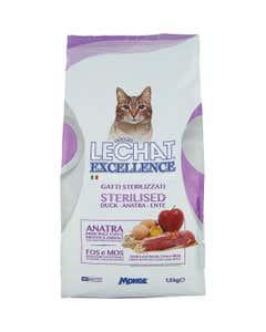 excellence gatti sterilizzati anatra 1,5 kg